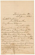 James Leeand039and039s War Horse Longstreet - Autograph Letter Signed 06/25/1889