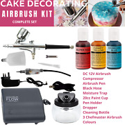 Spectrum Flow Cake Decorating Airbrush, Compressor And Airbrush Cleaning Kit