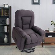 Electric Power Lift Recliner Chair For Elderly Massage And Heat Sofa Gray New