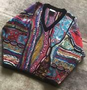 Vintage Coogi Cotton Knitted Sweater Size M Made In Australia / List No.1104