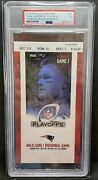 Tom Brady Final Game With New England Patriots Ticket Last Game Psa 3 Graded Vg