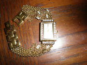 Continental Beautiful Gold Swarovsky Chrystals Women Watch Good Condition