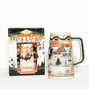 Holiday Beer Stein American Homestead1996 By Budweiser The 17th Stein In Series