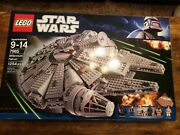 Lego Star Wars Millennium Falcon 7965 Used, Partially Assembled.