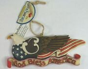 Jim Shore Heartwood Creek, Red White And Blue Eagle Hanging Ornament 4047800