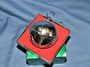 Wallace 1990 Christmas Tree Ornament Silver-plated Sleigh Bell W Box