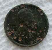 1909-s-vdb Lincoln Cent Rare Key Date Xf Detail Corroded Pitted