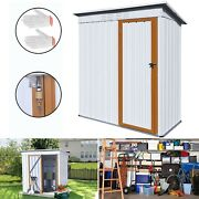 5ft X 3ft Metal Shed Outdoor Garden Storage Shed Backyard Tool Storage House Usa