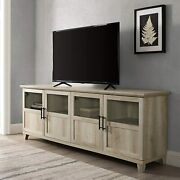 Farmhouse Glass And Wood 80 Universal Tv Stand For Flat Screen Living Room Stor