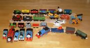 Lot Of 35 Thomas And Friends Trains Sets Other Toy Trains W/ Related Vehicles