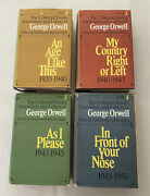 Collected Essays, Journalism And Letters Of George Orwell First Editions W/ Djs