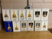 Lot Of 12 Goebel Hummel Annual Bell 1978 - 1991 Made In Germany Mint With Boxes