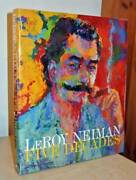 Leroy Neiman Autographed Signed Large Sketch In Hardcover Book