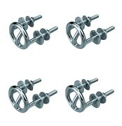 Box Of 4 Sea Dog Stainless Steel Transom Mount Ski Tow Ring 371633 Boat Marine