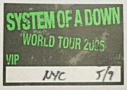 System Of A Down Heavy Metal Band Back Stage Pass