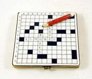 New French Limoges Trinket Box Crossword Puzzle I Love Limoges Boxes With Pencil