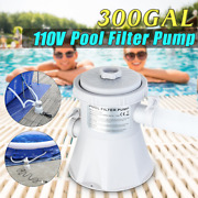 Filter Pump System 110v 330 Gph Flowclear For Above Ground Swimming Pool 2hose