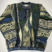 Vintage Coogi Cotton Knitted Sweater Size L Made In Australia / List No.3045