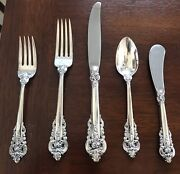 Wallace Grande Baroque Sterling Silver Flatware 5 Piece Place Setting