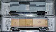 2-micro Trains N Scale Up-union Pacific 40' Box Cars, 1-factory Weathered