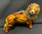 Jay Strongwater Lion With Mane Ornament New Tags Box Stunning
