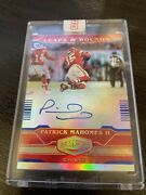 Patrick Mahomes /30 Auto 2020 Plates And Patches Blue Leaps And Bounds