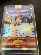 🔥patrick Mahomes /30 Auto 2020 Plates And Patches Blue Leaps And Bounds🔥