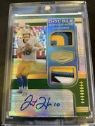 2020 Plates And Patches Justin Herbert Auto 06/15 Sick Patch Rpa Double Coverage