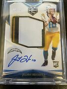2020 Panini Limited Justin Herbert 4 Color Jersey Patch Auto Rookie Card 66/75