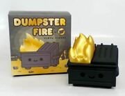 Kidrobot Exclusive Dumpster Fire 2020 Black And Gold Edition By 100 Soft
