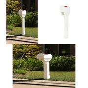 Postal Pro Hampton Mailboxes White Post And Newspaper Port All-in-one Kit Mail Box