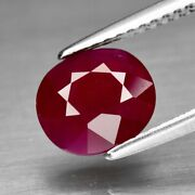 2.05ct 8x7.4mm Oval Natural Unheated Red Ruby Mozambique