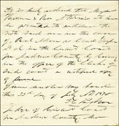 Isaac C. The Hanging Judge Parker - Autograph Document Signed 07/25/1870