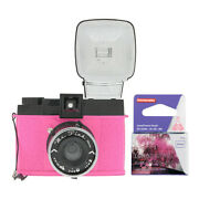 Lomography Diana F+ Camera And Flash Mr. Pink Edition With 35mm Film Roll