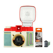 Lomography Diana F+ Camera And Flash 10 Yrs Of Diana Edition With Bandw Films