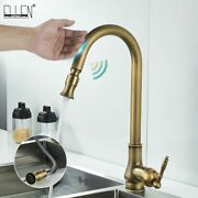 Touch Control Kitchen Faucets Pull Out Antqiue Bronze Mixer Tap Crane Sensor New