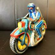 Ultra Rare One-point Thing Tetsujin 28 Tinplate Motorcycle Retro Toys