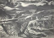 """John Mccrady Signed Lithograph """"wreck Of The Old 97"""""""