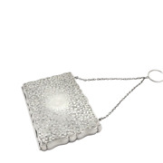 Antique Victorian Sterling Silver Calling Card Case - 1891