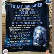 To My Daughter Gift For Daughter From Dad Lion Blanket