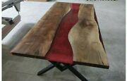 60 X 32 Epoxy Resin Dining Table / Center Hall Table Top Natural Wooden Table