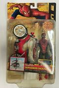 Spider-man 2 Scooter With Pizza Launching Action 2004 Toy Biz Action Figure Nib