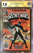 Secret Wars 8 Cgc 7.0 Canadian Cpv Signed By Zeck Shooter Beatty