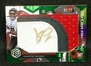 Kyle Pitts 2021 Elements Rookie Neon Signs Patch Gold Auto Jersey 8/25 1/1 Rc