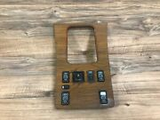Mercedes Benz Oem W126 Se Sel Sec Front Center Console Wood Panel Switch 85-91
