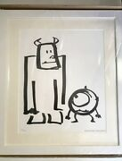 Pixar Exhibition Monsters Inc. Sulley And Mike Art Works Illustration A044