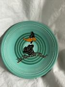 Fiesta Ware Looney Tunes Daffy Duck Turquoise 10.5in Dinner Plate Perfect Cond