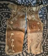 Old West Americana Monogrammed Cowboy Chaps Size Small/med