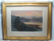 Ludmilla Pilat Welch 1867-1925 Oil Painting Antique Impressionist Hudson 631e