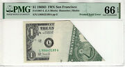 1969 D1 Federal Reserve Note San Francisco Printed Fold Over Error Pmg 66 Epq